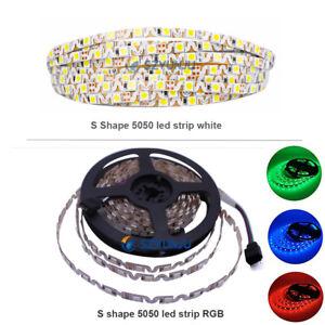 S-shape-SMD-5050-led-strip-light-DC12V-RGB-white-Flexible-Ribbon-IP20