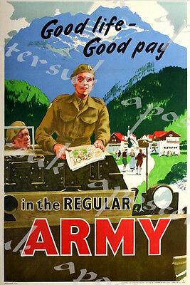 Vintage World War One RAF Recruitment Poster Print A3//A4