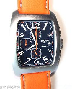 locman sport chronograph model 487 blue w orange