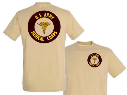 "MEDICAL CORPS /"" nurse MEDIC infirmier WW2 tshirt USA 1944 T shirt /"" US ARMY"