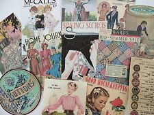 Lot of 12 Vintage SEWING and QUILTING DIE CUTS for CRAFTING | M16 SHIPS FREE