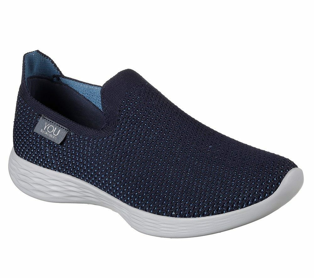 NEU YOU SKECHERS Damen Sneakers Slipper Freizeitschuhe Sommerschuhe YOU NEU DEFINE Blau f6198b