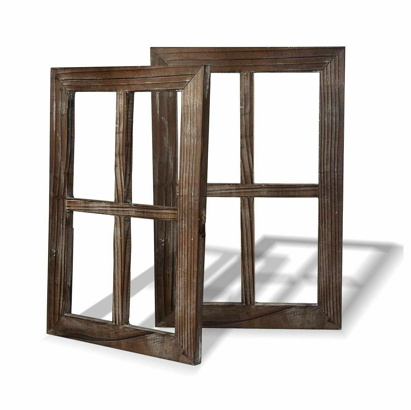 Fake Window Wall Decal Mount Frame Art Living Room Decor Rustic Decoration 2pc