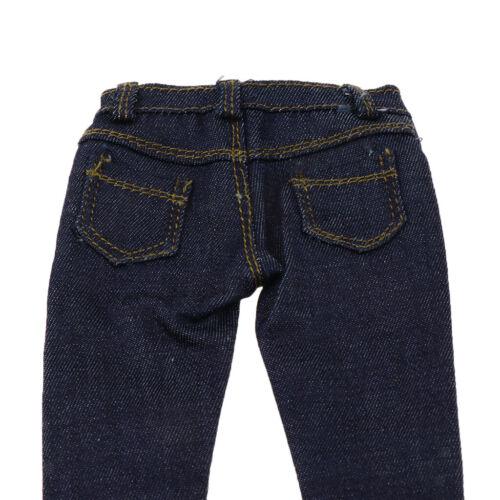 "1//6 Scale Black Denim Jeans Hose für 12 /""Hot Toys TC Dragon Weibliche Figur"