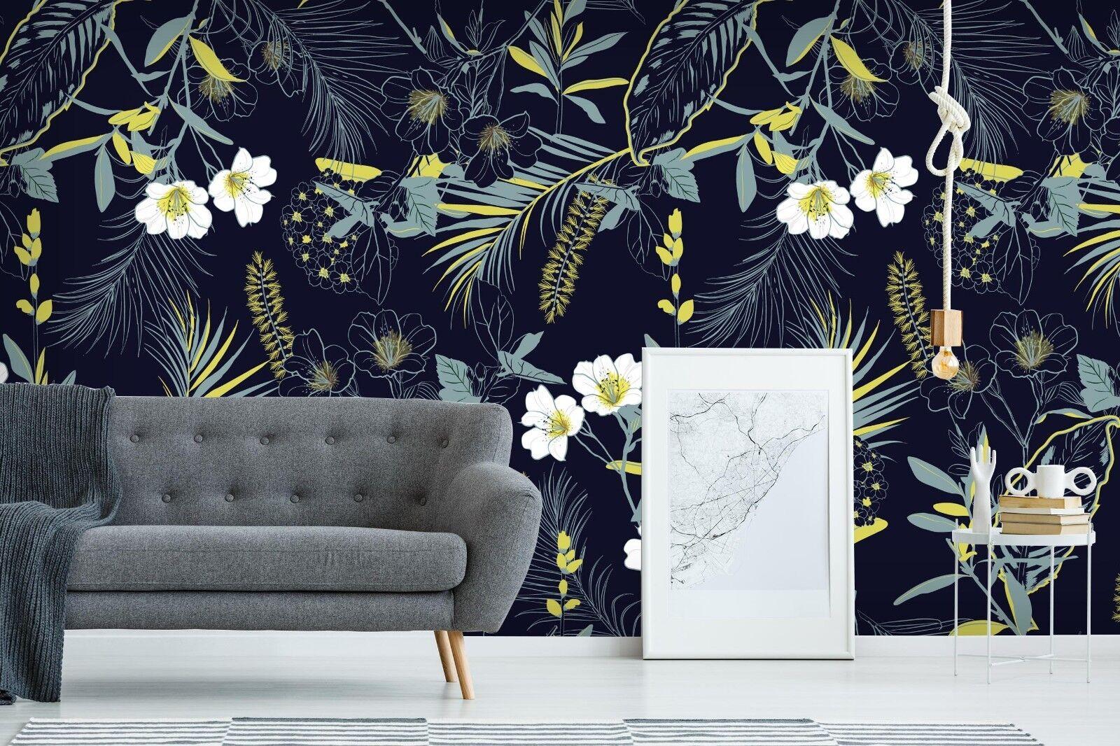 3D Gras Blumen 7029 Tapete Wandgemälde Tapete Tapeten Bild Familie DE Sidney