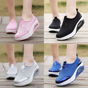 513b7bbc270 Image is loading Womens-Sneakers-Platform-Toning-Sports-Fitness-Shoes-Lace-