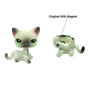 Littlest Pet Shop Lps Toys 125 Grey White Short Hair Cat With Green Eyes Gifts Ebay