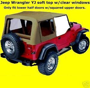 Image Is Loading 88 95 Soft Top Jeep YJ Wrangler HALF