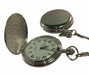 Photo-amp-text-engraved-personalised-chrome-tone-pocket-watch-gift-box-PWC