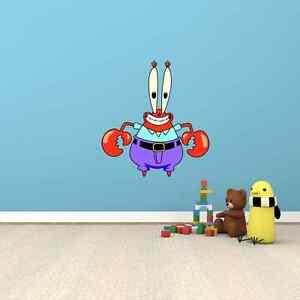 mr krabs crab spongebob squarepants cartoon wall decor sticker