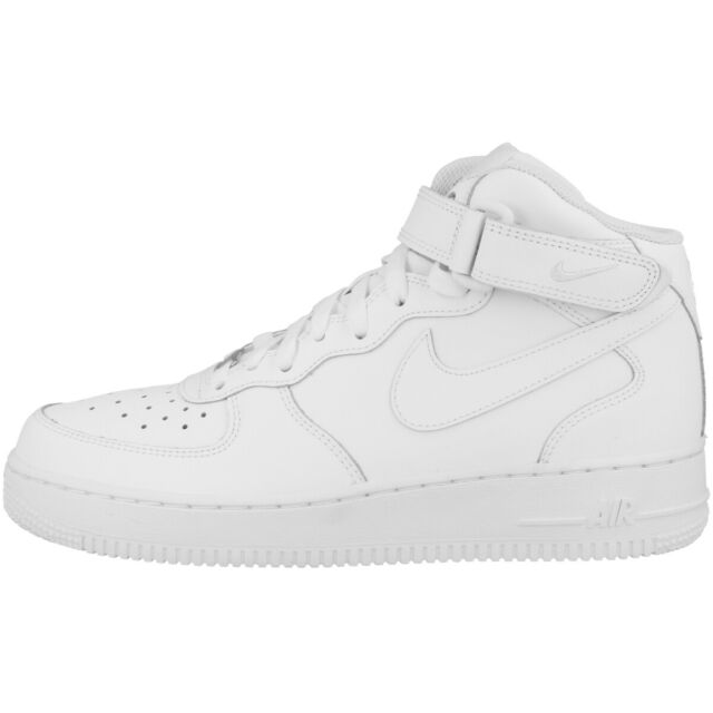 Nike Air Force 1 Mid GS Scarpe High Top Casual pelle Sneakers Bianco 314195 113