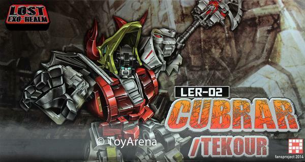 Fansproject perdido Exo Reino LER-02 cubrar y tekour Figuras De Acción Transformers