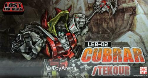 Fansproject Lost Exo Realm LER-02 Cubrar and Tekour Action Figures  Transformers