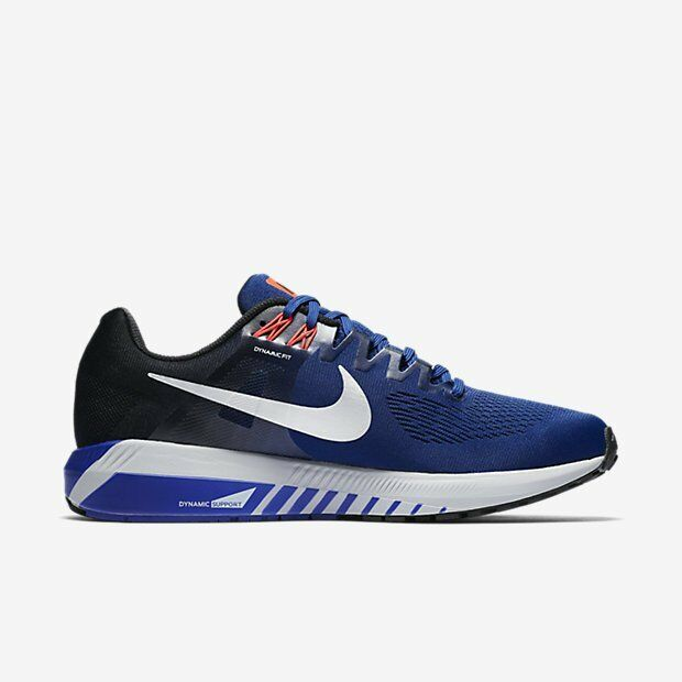 NIKE AIR ZOOM STRUCTURE 21 MEN'S RUNNING SHOE Deep Royal bluee 904695-401 10'