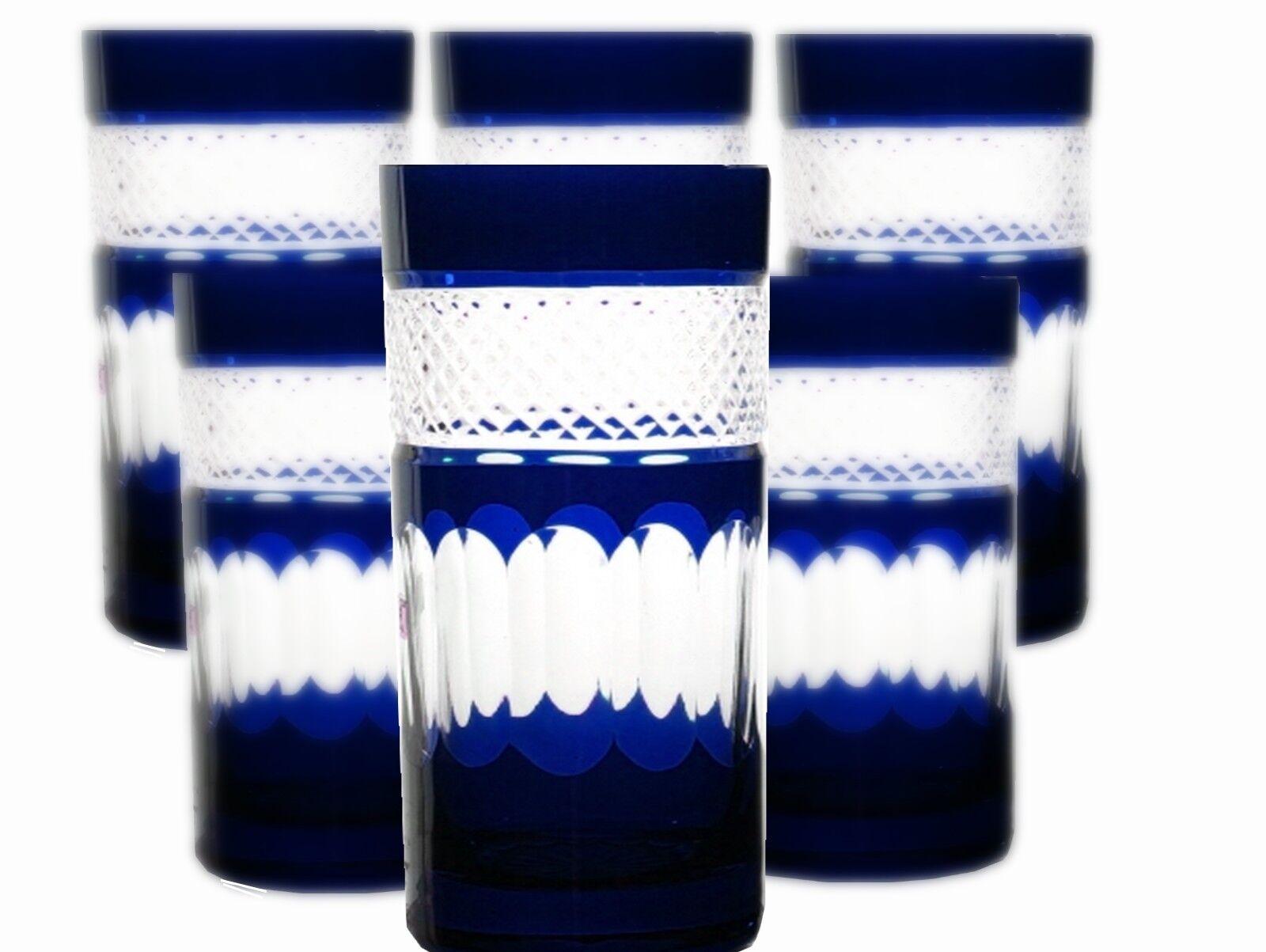 Longdrink verres bleikristall Romains 6 St. (283 obgb) Bleu bleikristall potable Verres
