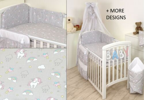 PINK CUTE TEDDY  BABY BEDDING SET COT or COT BED size 30 MORE DESIGNS