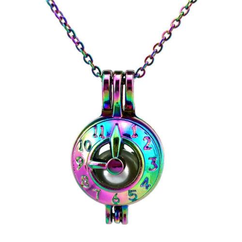 """Rainbow Coloré Chaîne C600 Horloge Perles Perle Cage 18/"""" en acier inoxydable chaîne"""
