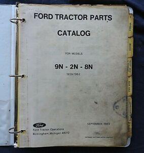 ORIGINAL 1939-52 FORD 9N 2N & 8N TRACTOR PARTS CATALOG MANUAL TABBED INDEX