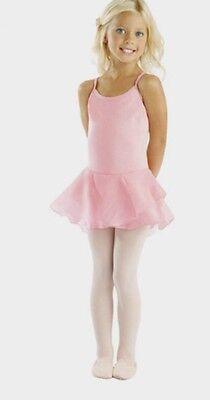 NEW Pink Ballet Dance Leotard/Dress Chiffon Tutu Skirt 3,4,5,6,7 Fairy Dress UK