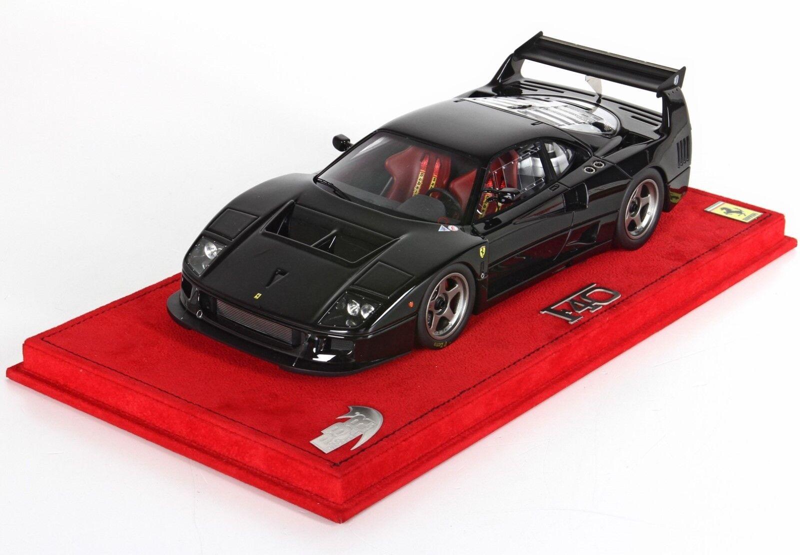 1989 Ferrari F40 LM en negro brillante Edición Limitada 99 en 1 18 Escala Modelo Por BBR Muy Raro