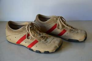8a2e7b09fe47e Details about Mens Vtg DIESEL Wish Tan & Red Leather & Suede Retro Sneakers  Shoes! size 7.5