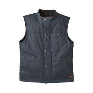 Indian Motorcycle Men's Casual Retro Waxed Cotton Vest, Black