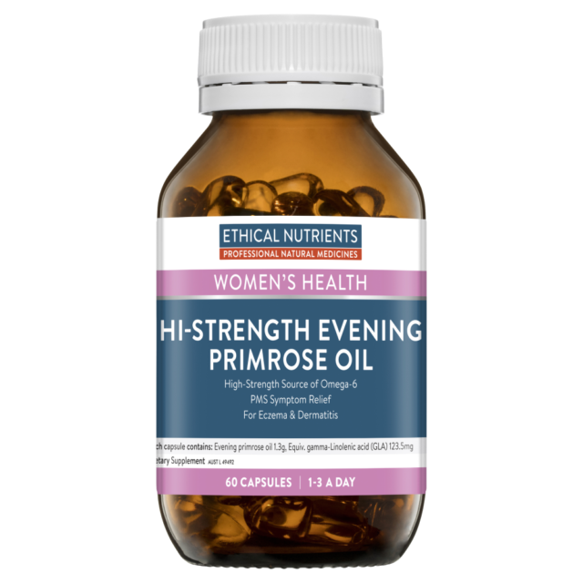 Ethical Nutrients Hi-Strength Evening Primrose Oil 60 Capsules Omega-6 High