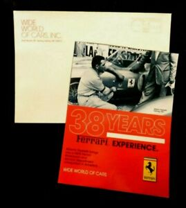 Vintage Ferrari Pedretti Wide World Cars Spring Valley Ny Dealer Ad Brochure Env Ebay
