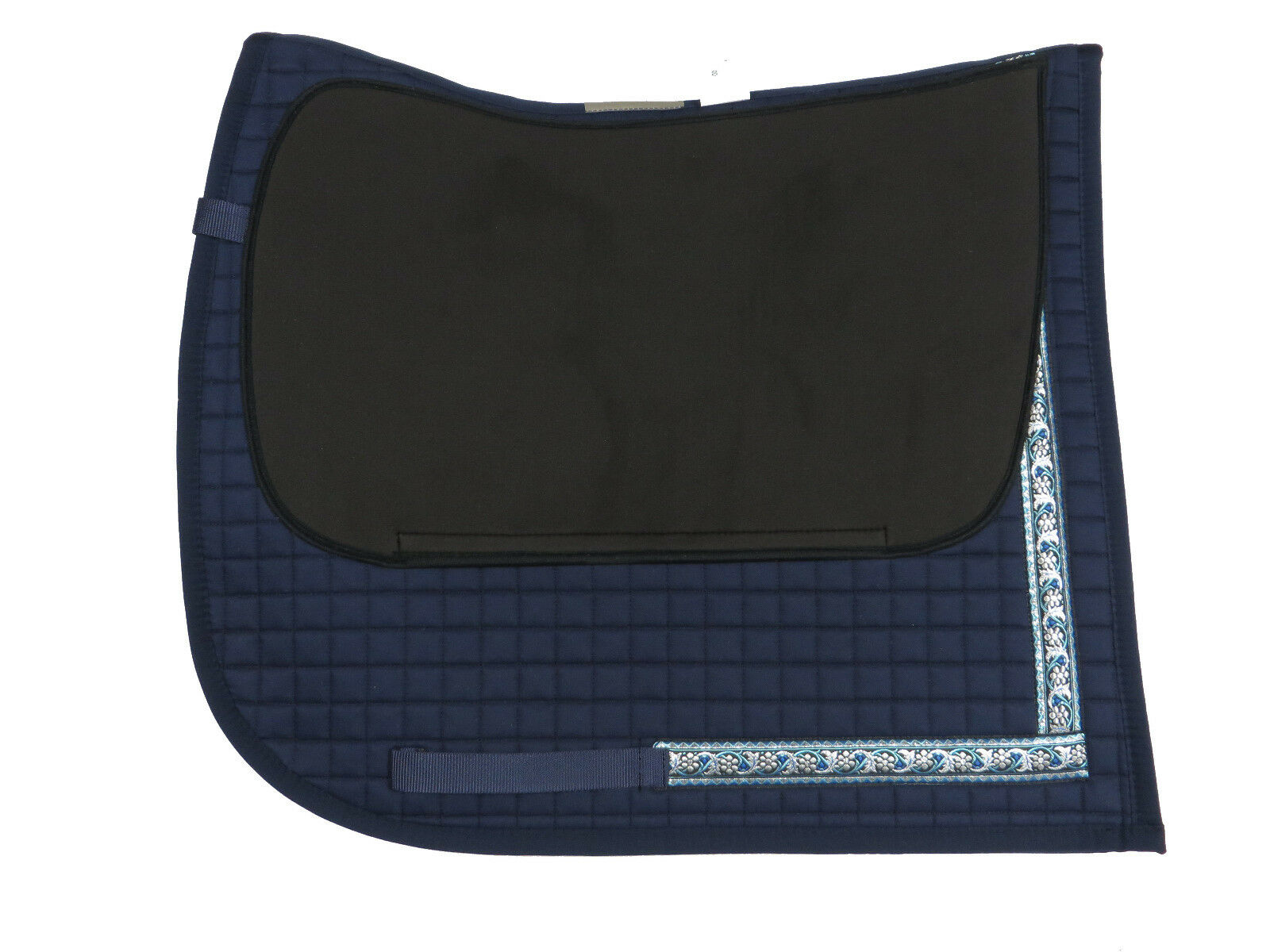 Barock Schabracke Navy hübsche Borte polsterbaren Taschen Taschen Taschen mit Lammfell möglich d8c9db