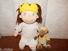"SALE 15"" talking Little Princess + Gilbert soft plush toy figure bundle playset"