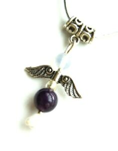 Guardian Angel Pendant Charm Choose Your Crystal from List - Free Shipping UK