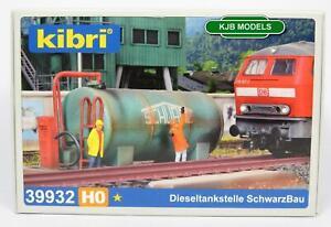 BNIB-OO-HO-GAUGE-KIBRI-39932-DEPOT-DIESEL-TANK-WITH-FUEL-PUMP-KIT