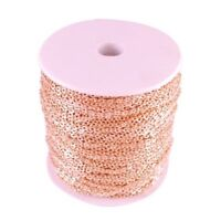 Premium Rose Gold Plated Cross Chain Jewellery Making Findings 3mm - lady-muck1