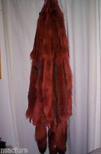 FURS HIDES TANNED FUR HIDE PELT /CABIN DECOR/CRAFTS/ RED DYED COYOTE OPEN PELTS