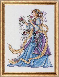Rosa-Lady-Kit-de-Punto-de-Cruz-Design-Works-14-Cuentas-22-9cm-X-30-5cm