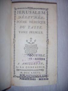 Détails Sur Jérusalem Délivrée Poème Héroïque Du Tasse T1 1776 Be