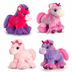KORIMCO KEEL TOYS  GLITTER GEM UNICORN SOFT PLUSH TOY 30CM BNWT