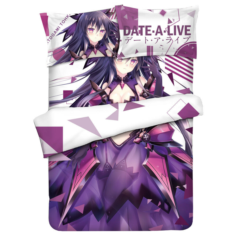 Anime Date A Live Princess Bed Sheet Bed Cover Full Set 59