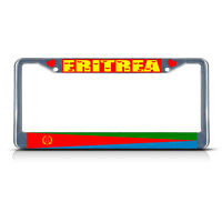 Eritrea Country Flag Metal License Plate Frame Tag Border Two Holes