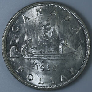 1938 Canada 1 Silver Dollar Nice Coin Ebay