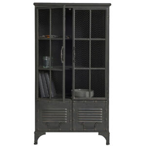 vintage vitrinenschrank nova schrank vitrine metallschrank. Black Bedroom Furniture Sets. Home Design Ideas