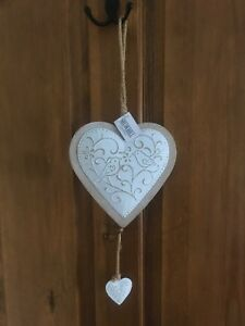 Fantastic Details About Brand New Beautiful Shabby Chic Hanging Hearts Decoration Home Interior And Landscaping Ponolsignezvosmurscom