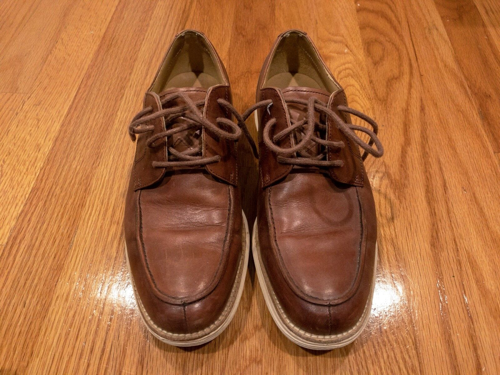 Cole Haan Lunargrand Oxford Shoes Brown Pelle Uomo's 8
