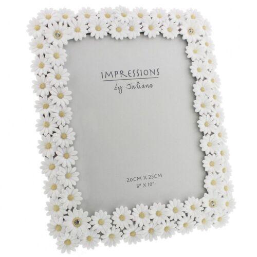 Juliana Impressions Luxury White Daisy Photo Frame With Crystal ...
