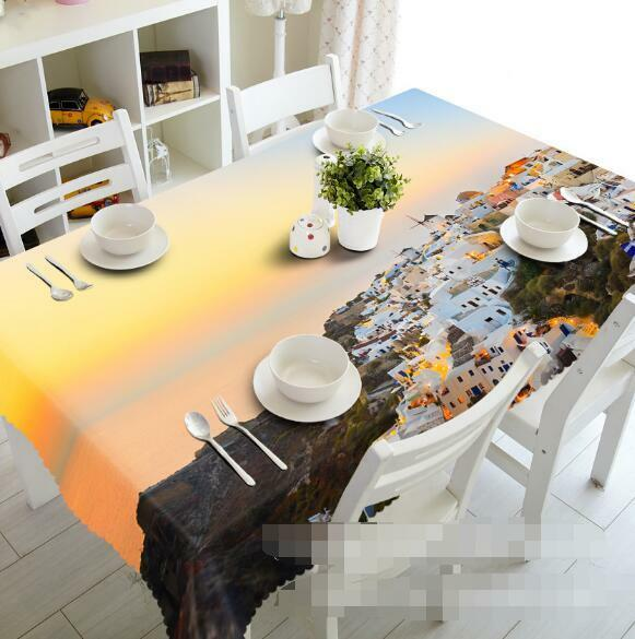 3D Santorini 31 Tablecloth Table Cover Cloth Birthday Party Event AJ WALLPAPER