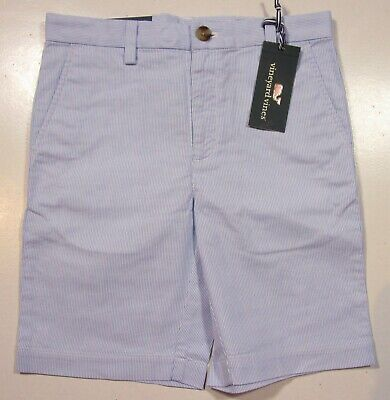 Vineyard Vines Boys Ocean Breeze Blue Pincord Stripe Breaker Shorts
