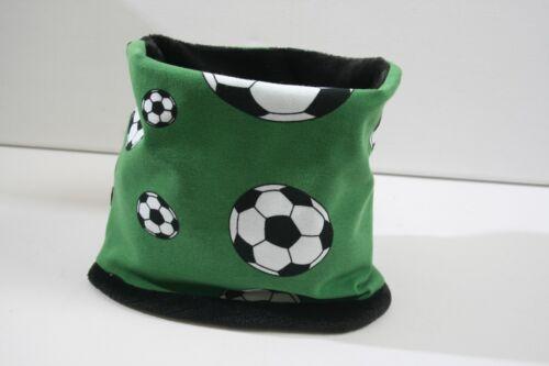 Neu Loop Rundschal Jersey Fleece Grün Weiß Schwarz Fußball Junge Mädchen