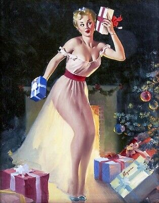X-Ray Girl Nude,Legs,Large Breasts GIL ELVGREN 8x10 PINUP GIRL MATTE PRINT