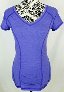 Zella Womens Workout Tee Size Small Purple Athletic Yoga Top