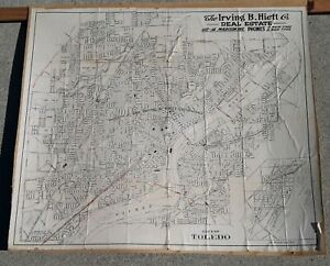 Details about Early TOLEDO, OHIO MAP Antique Original IRVING HEITT REAL  ESTATE COMPANY PROMO